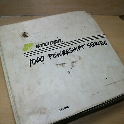 Steiger Series Iii Puma1000 Tractor Repair Shop Service Manual Powershift Book