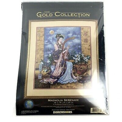 Magnolia Serenade Dimensions Gold Collection Needlepoint Kit 2486 Lena Liu (Gold Needlepoint Kit)