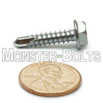 10 X 78 Tek Screws 410 Hardened Stainless Steel Self-drilling Hwh 3 Point