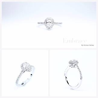 A hand made one of a kind engagement ring.