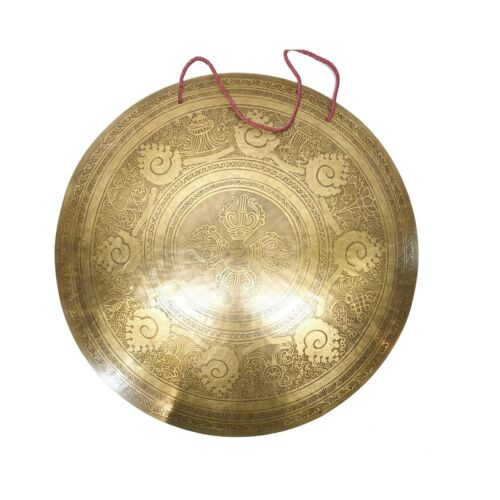 22 inches Extra large Tibetan Gong-Handmade gong-Mantra Carved Gong from Nepal