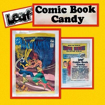 Vintage 1981 Leaf HAWKMAN Comic Book Candy Pack bubble gum container Amurol