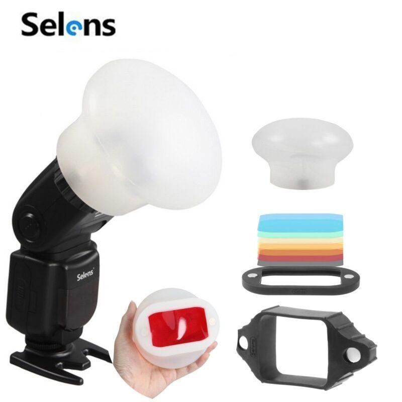 Selens Magnetic Flash Modifier Sphere Diffuser & Filters Kit