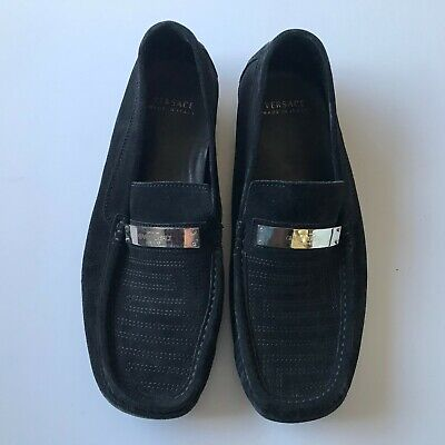 Gianni Versace Couture Men's Black Shoes Made In Italy Size 43 US Size 9