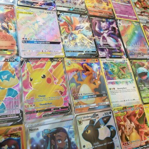 Pokemon Card Lot 100 OFFICIAL TCG Cards Ultra Rare Included EX GX V MEGA HOLOS