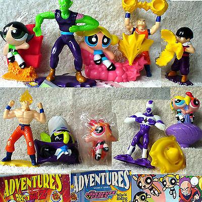 Burger King DragonBall Dragon Ball Z 10 Toy set 2002 PowerPuff  Power Puff Girls
