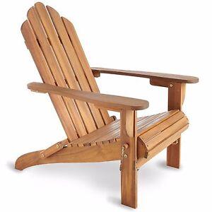 VonHaus Folding Adirondack Chair Outdoor Garden Patio Balcony Wooden  Furniture