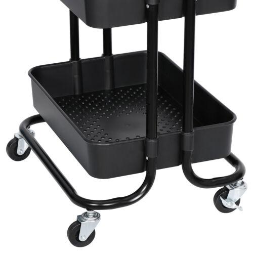3-Tier Rolling Carts with Wheels Storage Cart Makeup Cart  for Kitchen Bathroom Home & Garden