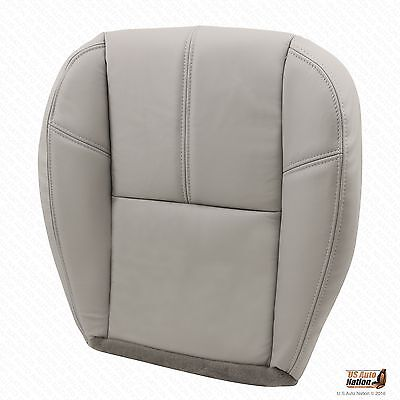 2007 to 2013 Chevy Avalanche Driver Side Bottom Leather Seat Cover Gray #833
