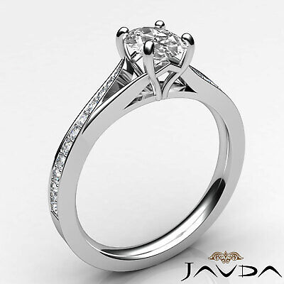 1.15ctw Natural 100% Oval Diamond Engagement Ring GIA G-SI1 White Gold Women New 1