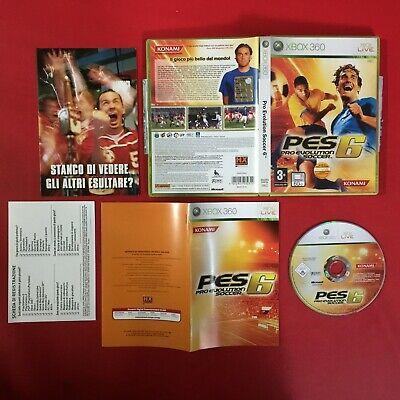 (XBOX 360) PES PRO EVOLUTION SOCCER 6 (ITA 2006 PAL) + MANUALE GIOCO + FOLDER, usado comprar usado  Enviando para Brazil