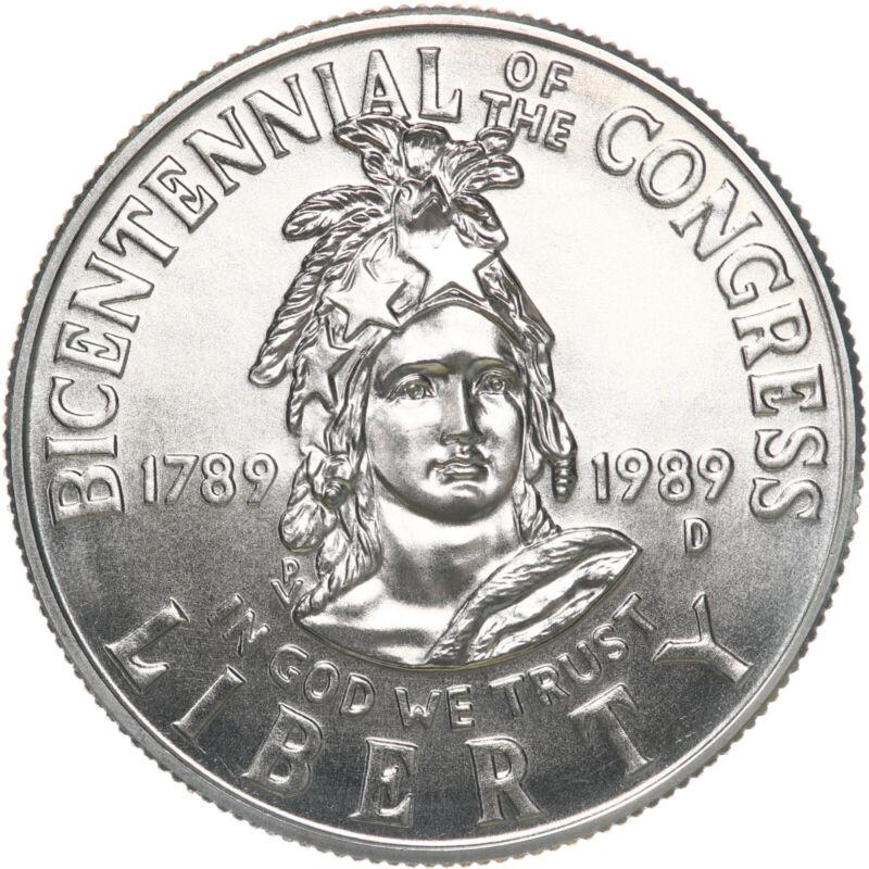 1989 D Congressional Bicentennial BU Commemorative Half Dollar US Coin