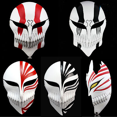 Halloween Bleach Mask Kurosaki Ichigo Hollow Resin Costume Accessories Props