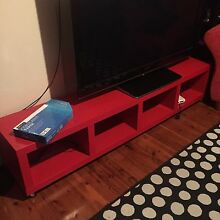 Free low lying red TV unit Marayong Blacktown Area Preview