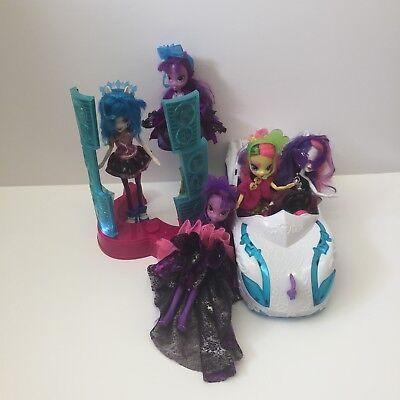 MLP My Little Pony EG Equestria Girls Bundle 5 Dolls And Car Music Stand