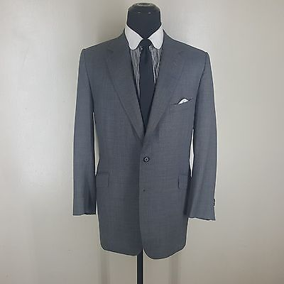 ANTHONY J. HEWITT BESPOKE SAVILE ROW  SPORT COAT 2 BTN.SIDE VENTS  44 SEMI LONG