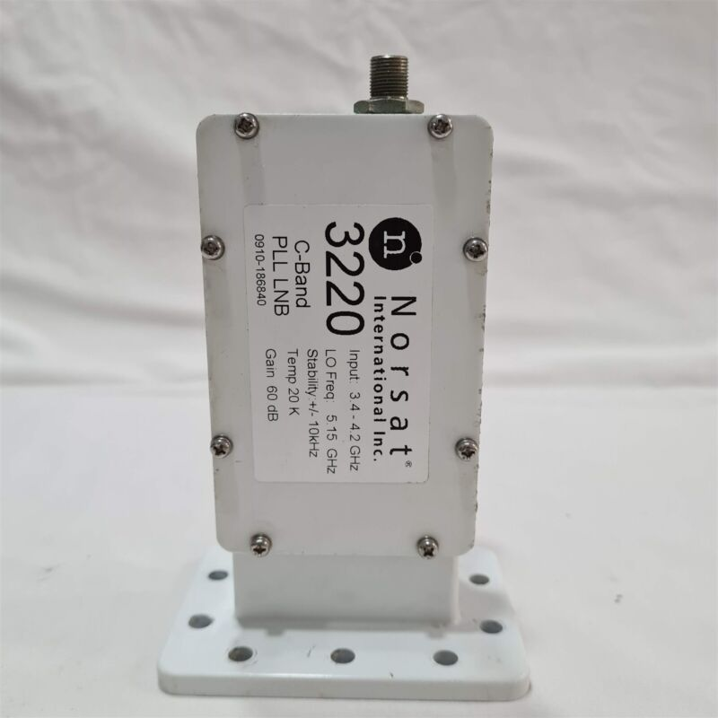 Norsat 3220 C-Band LNB. 3.4Ghz to 3.2GHz. Temp 20K. Gain 60db. Madein Japan