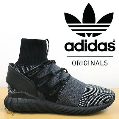 ✅24h DELIVERY✅ Adidas Originals Tubular Doom Primeknit  Trainers Black Sneakers
