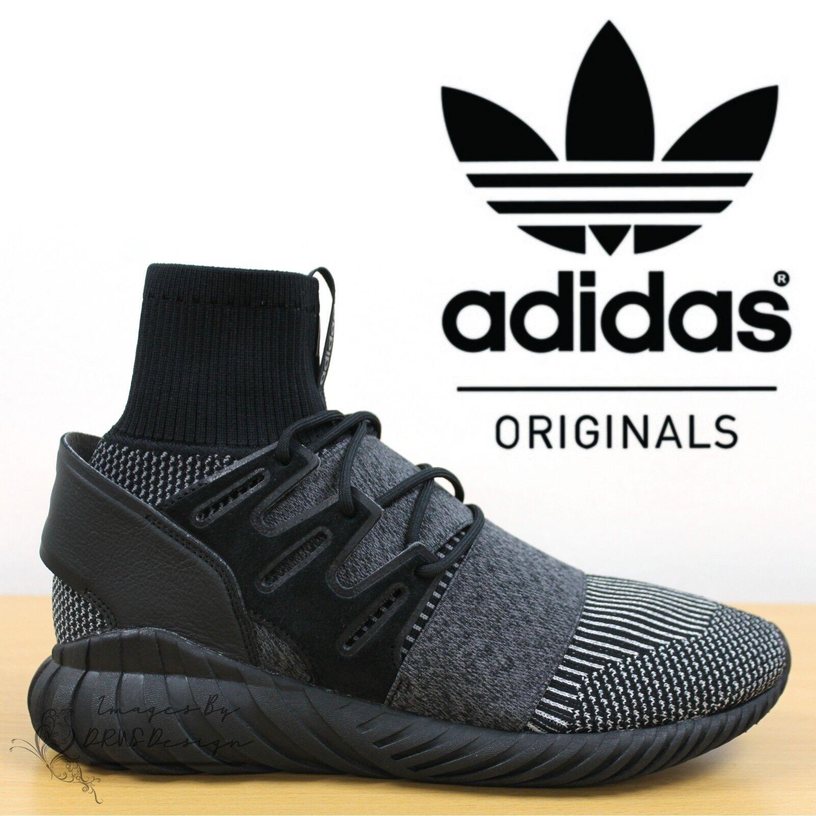 Détails sur ✅ 24 H LIVRAISON ✅ Adidas Originals Tubular Doom Primeknit Baskets BLACK Sneakers afficher le titre d'origine