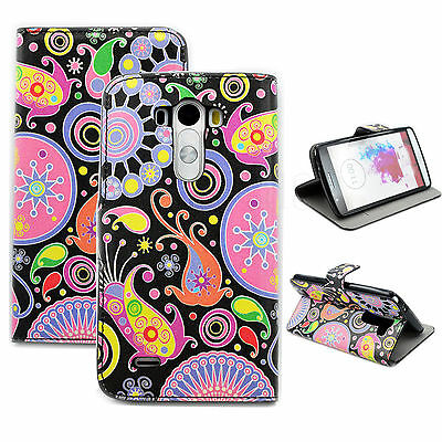 Jellyfish Printed Phone Leather Flip Wallet Pocket Case Cover Best For LG (Best Phone Case For Lg G3)