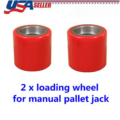 2 Pcs Eoslift Replacement Part Pallet Truckjack Pu Load Wheel For All Series