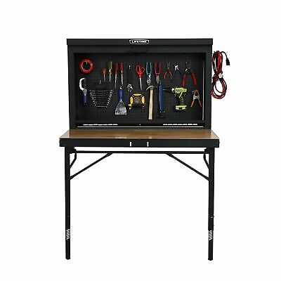 Lifetime Products Wall Mounted Work Table, 4', Wood Varnish New - Free -