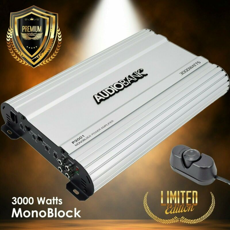 Audiobank Monoblock 3000 WATTS Amp Class AB Car Audio Stereo Amplifier P3001