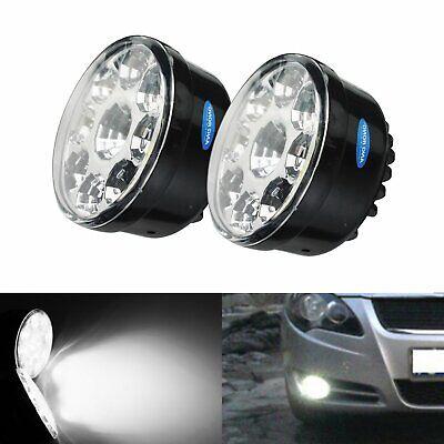 Paar Universal Rund Ø70mm Tagfahrlicht Nebelleuchte Licht Lampen TFL Xenon Weiß