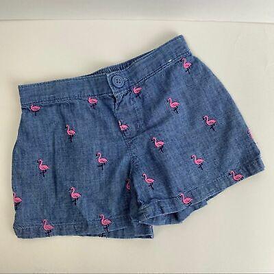 Gymboree - Chambray Flamingo Shorts Girls sz. 7
