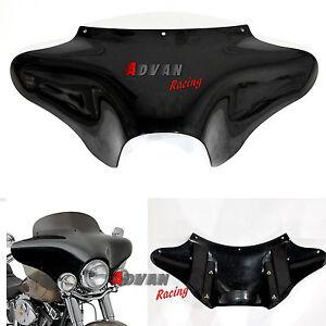 Unpaint-Black-Batwing-front-Fairing-Fit-Harley-Davidson-HD-Softail-Road-King