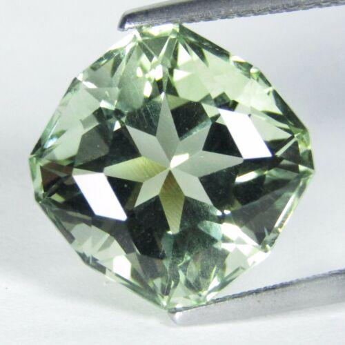 10.28Cts Natural Green Amethyst (prasiolite) Cushion Custom Cut Loose Gem VDO