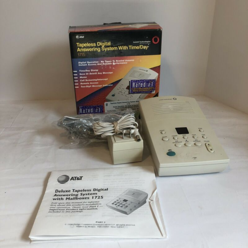Vintage AT&T Lucent Tech Digital Tapeless Answering System 1710