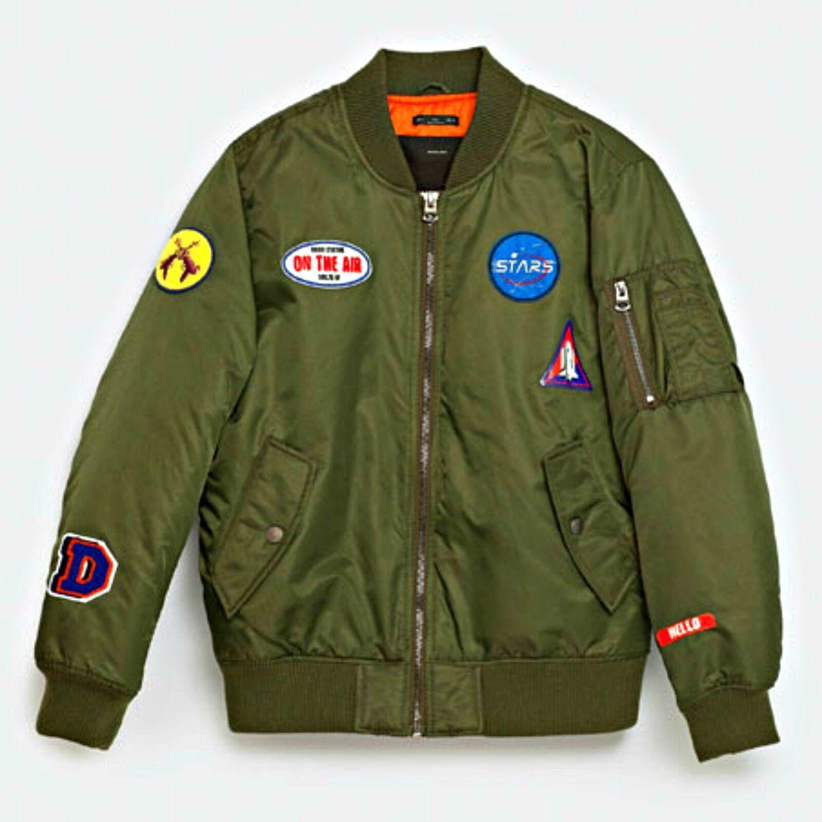 zara chaqueta aviador parches