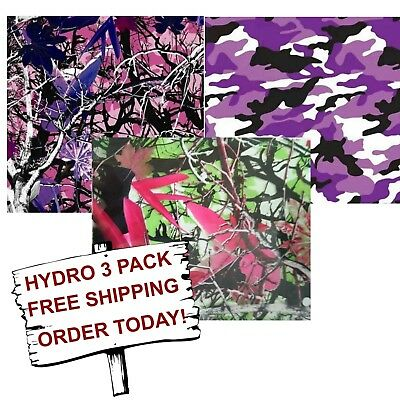 Hydrographic Film Water Transfer Printing Film Hydro Dip Lady Camo 3 Pack