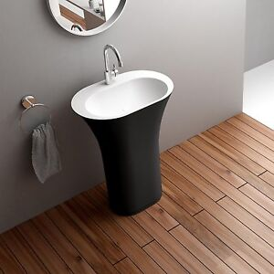 Free-Standing-Solid-Surface-Stone-Modern-Pedestal-Sink-25-x-17-inch-DW ...