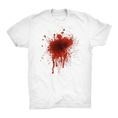 Blood T Shirt Stain Wound Gun Shoot Bulllet Injury Fight Halloween Horror
