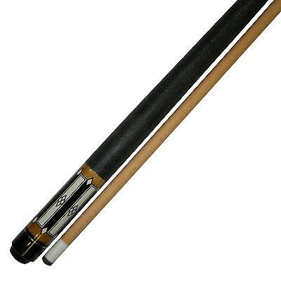"""58""""  2 Piece Hardwood Canadian Maple Pool Cue Billiard Stick  W Irish Wrap 21 Oz"""