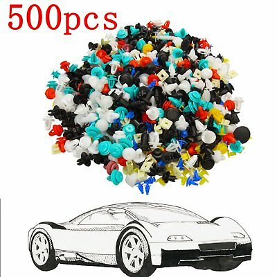 500pcs Mixed Car Door Panel Trim Fenders Bumper Rivet Retainer Push Pin Clips US (Tucson Spectrum)