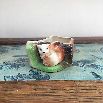 Vintage Eastgate Fauna Vase / Posy Pot - Squirrel ( E947) - 4.5cm