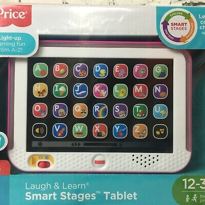 Fisher Price PINK Baby Tablet Educational Girl Toy 1 to 3 Year Toddler Learning  for sale  Shipping to India