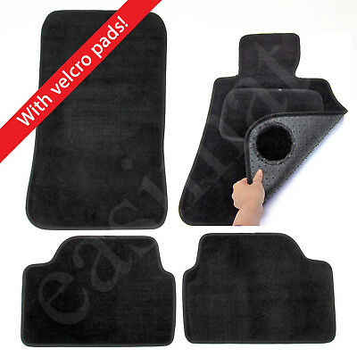 Car Parts - BMW 1 Series E87 2004–2011 Tailored Carpet Car Mats Black 4pcs Set Velcro Tabs
