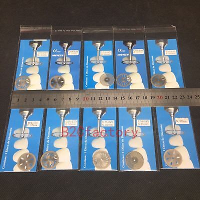10pcs Dental Diamond Polishing Wheel Saw Double Side Disc Cutter Rotary Tool