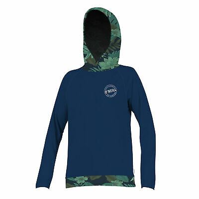 O'Neill Side Print Long Sleeve Womens UV Hoodie - Abyss