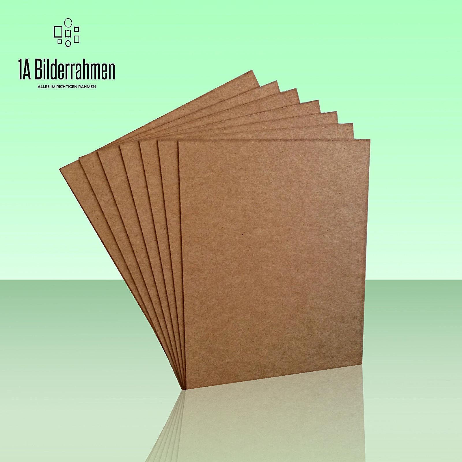 10x MDF Platte 2,5 mm stark Holz Zuschnitt Faserplatte viele Größen braun roh