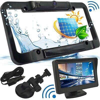 Wireless Waterproof HD Solar License Plate Rear View Backup Camera Night Vision Wireless License Plate Backup