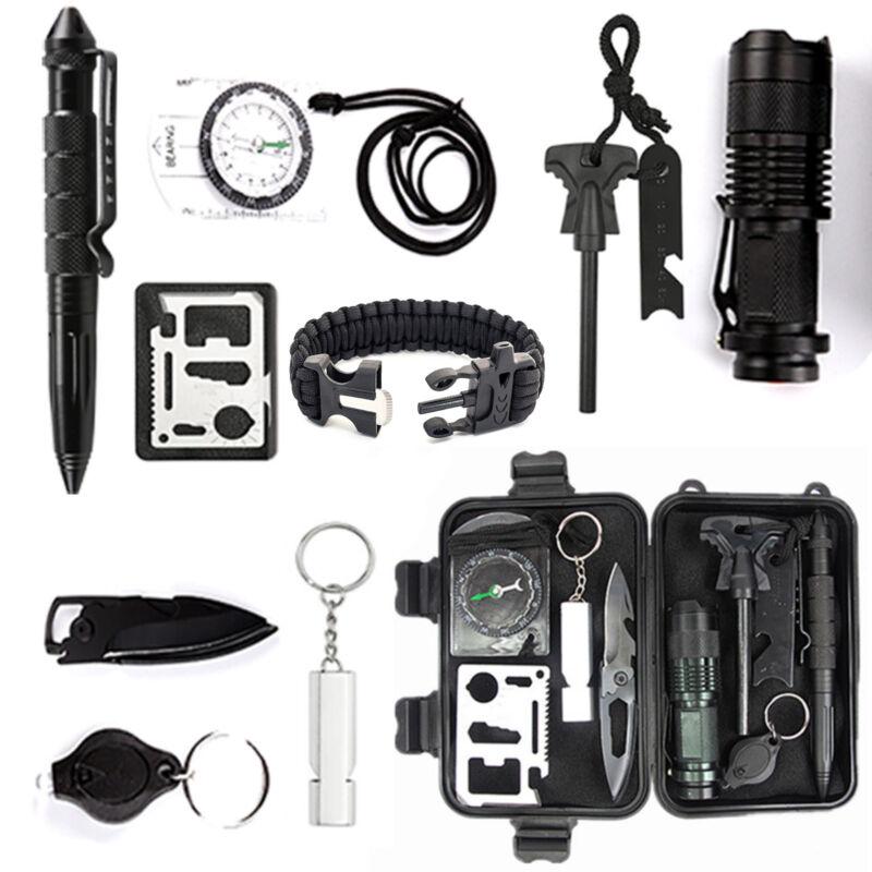 12in1 Überlebensset Survival Kit Werkzeug Krisenvorsorge Notfall Camping Rettung