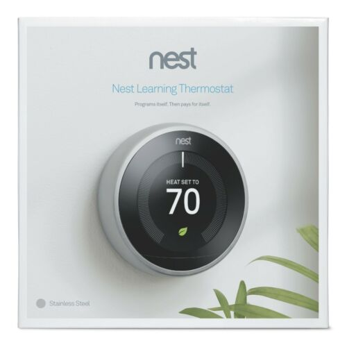 U Nest T3007ES 3rd Generation Learning Programmable Thermostat Stainless Steel