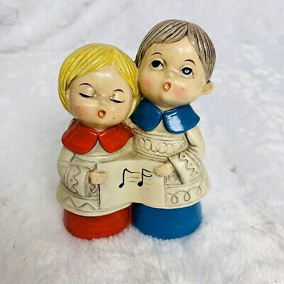 Vintage Choir Singers Carolers Song Christmas Holidays Japan Hand Painted ()