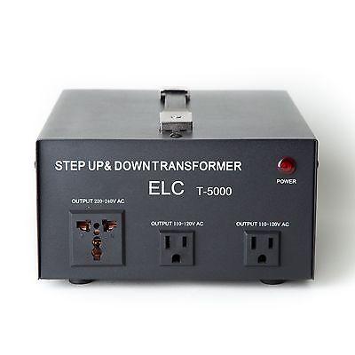 NEW ELC T-5000 5000 Watt Voltage Converter Transformer Step Up/Down (110V/220V)
