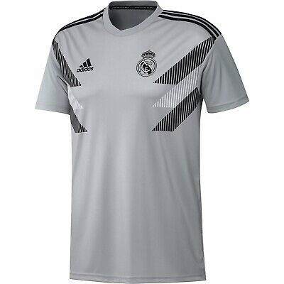 Adidas Real Madrid Training Soccer Jersey, Gray CW5826, Size Large NWT